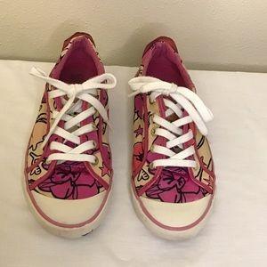 Coach Barrett petal pink shoes